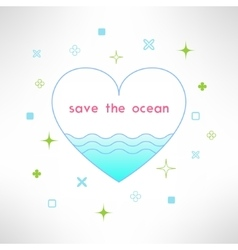 save the ocean background in modern flat vector image