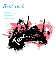 Travel Turkey grunge style vector image vector image