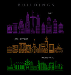 architectural in neon colors vector image vector image