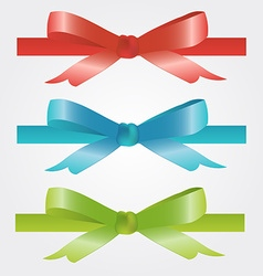 Christmas and holiday bow red blue and green vector image vector image