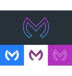 m letter logo design creative logotype design vector image vector image