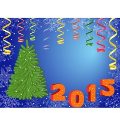 New Year 2015 greeting card vector image vector image