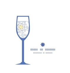ornamental abstract swirls wine glass silhouette vector image vector image