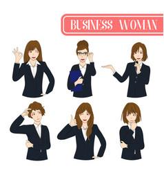 set business woman vector image