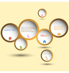 Stylish web design bubble vector image