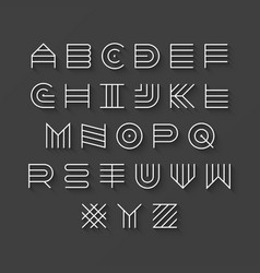 thin line style linear uppercase modern font vector image vector image