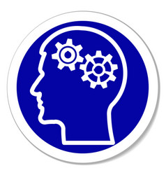 icon - thinking intelligence problems vector image