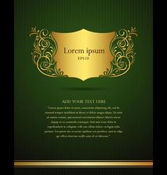 invitation vintage frame vector image