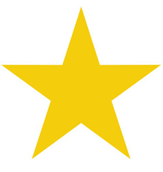 star icon on white background flat rank yellow vector image