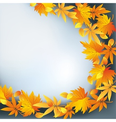 Abstract nature background autumn leaf fall vector image vector image