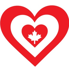 Canada Heart vector image