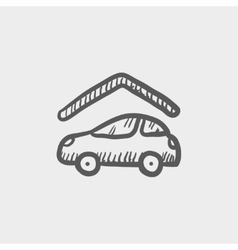 Car garage sketch icon vector image vector image