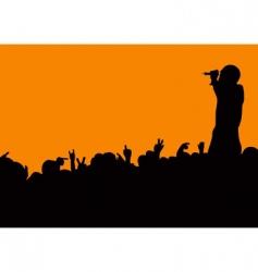 concert crowd wave vector image