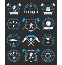 Set of Football Badge and Logo vector image