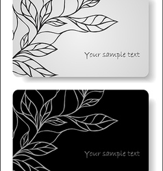 abstract floral cards vector image