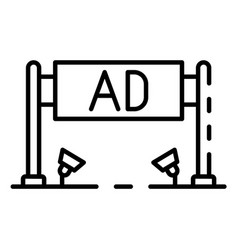 ad banner icon outline style vector image
