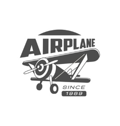 Airplane Emblem Design vector