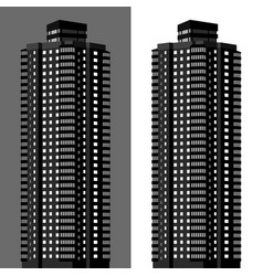 apartment block vector image