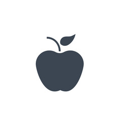 apple related glyph icon vector image