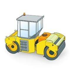 asphalt roller vector image