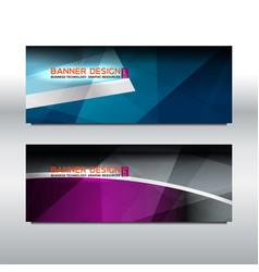 banner violet blue background vector image