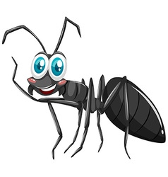 Black ant with smiling face vector