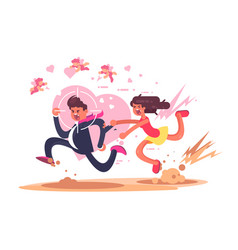 chasing after love vector image