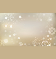 christmas and new year glossy light background vector image