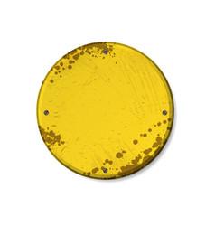 circle yellow grunge frames vector image