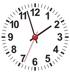 Clock face vector image