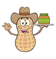 Cowboy Peanut Cartoon vector
