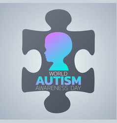 creative concept for world autism awareness day vector image