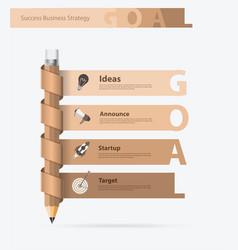 creative pencil design with goals ideas concept vector image