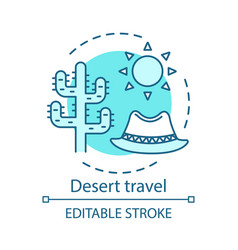 desert travel concept icon vector image
