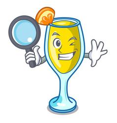 Detective mimosa character cartoon style vector