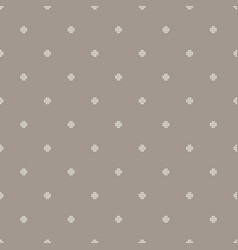 Dotted cross seamless pattern vector