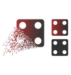 dust dot halftone dice icon vector image