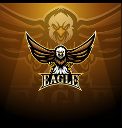 Eagle sport mascot logo design vector