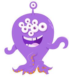 fantasy monster creature cartoon vector image