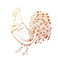 Fire Rooster symbol 2017 by the Chinese calendar vector image