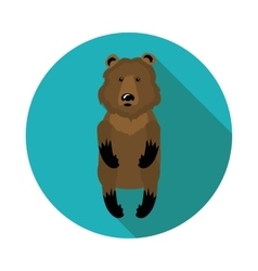 flat icons bear vector image