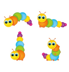 funny colorful caterpillar vector image vector image