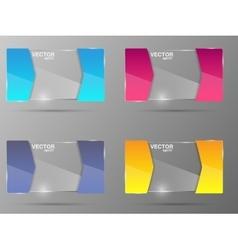 Glass banner set Design template vector