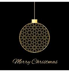 Gold christmas ball vector