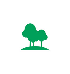 green trees icon design template isolated vector image
