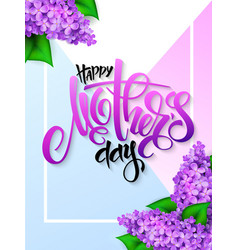 hand drawn mothers day greeting card with vector image