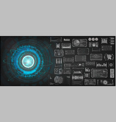 high-tech design elements set vector image