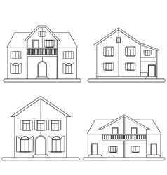 Houses set vector image