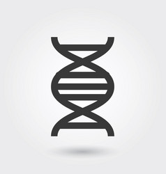 Icon dna medical icon line style for any purposes vector