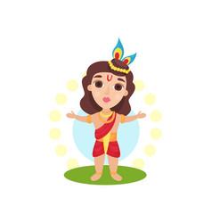 Indian hindu god cartoon on a vector